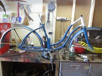 "Vintage, 1960's, 24"" Roadmaster Bicycle Frame with Forks & Fenders (Girl's)"