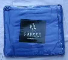 New Ralph Lauren Beachside Preppy Twin flat sheet Cabana Blue Sealed Pkg