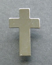 CHAPLAIN CHRISTIAN CROSS RELIGIOUS SILVER COLORED LAPEL PIN BADGE 1 INCH