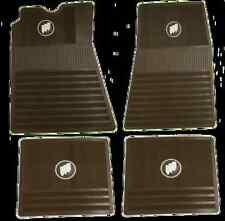 1961-1975 Buick Floor Mats. Saddle Brown with Tri-Shield. FM615SB