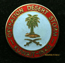 OPERATION DESERT STORM HAT PIN US NAVY ARMY MARINES AIR FORCE USCG SHIELD WOW