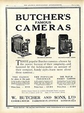 Butcher 's famous cámaras w. Butcher & Sons londres Camera House plegable cámaras 1920