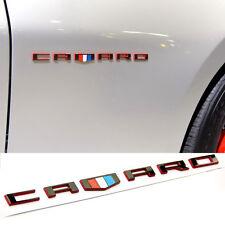 1x OEM Red Black CAMARO Letter Emblem 3D for Badge GM Zl1 SS Red line Lu