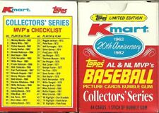 1982 K MART 20TH ANNIVERSARY BASEBALL CARD SET (MICKEY MANTLE, ROBERTO CLEMENTE+
