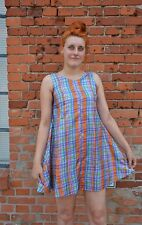 Kleid dress Minikleid A-Schnitt kariert checkered 60er True VINTAGE 60´s Twiggy
