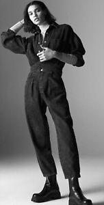 ZARA WOMAN NWT FW20/21 Gray  LONG DENIM JUMPSUIT REF.4406/160 Size XS ,S