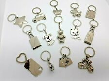 Keyrings Key Ring Chain Silver Face Animals Butterfly Heart Dog Tag Gifts