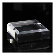 Socle présentoir acrylique angles biseautés pour minéraux 4 pcs. 30 x 30 x 20 mm