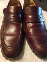 Johnston & Murphy Burgundy Loafers Dress Shoes Size 11.5 Medium