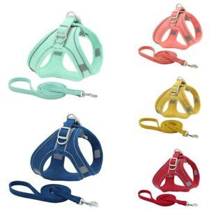 Dog Cat Pet Harness Leash Puppy Soft Adjustable Vest Mesh Clothes W/ Strap XS-XL
