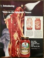 1967 Chef Boyardee Spaghetti Sauce Print Ad Thick Stick to the Spaghetti Sauces
