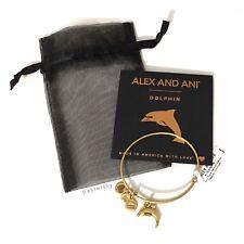 ALEX AND ANI rafaelian gold DOLPHIN bracelet bangle NEW NWT $28