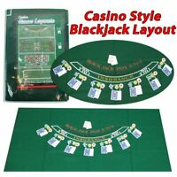 Blackjack Layout Poker 36x72 Inch Top Mat Green Cover Portable 405694 Game