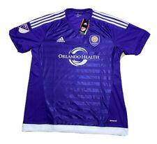 2000s Adidas MLS Orlando City SC Soccer Club Purple Blank Jersey Size XL