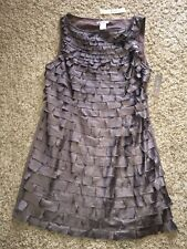 NWT COMMON ERA  ANTHROPOLOGIE  ESLEY Mini DRESS L GRAY / TAUPE LINED