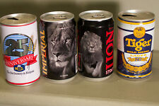 4 cans from East Asia - Lion, Tiger, Anchor - Sri Lanka, etc. - Ococ
