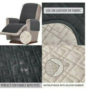 """LOT/2 RHF Anti-Slip Chair Covers for Leather Sofa Chair Slip 23"""" Seat Recliner"""