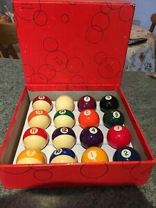 "Araminth Spots and Stripes 1 3/4"" Pool Ball Set"