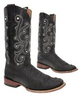 FERRINI Cowboy Boots 8 D Mens Exotic Faux Alligator Leather Western Roper Boots