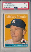1958 TOPPS #150 MICKEY MANTLE - PSA 5 EX (SVSC)