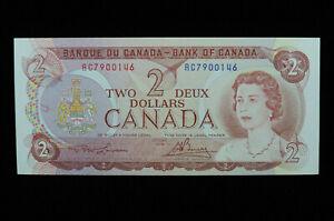 1974 $2 Bank of Canada Banknote RC 7900146 Lawson Bouey EF+ Grade Bill