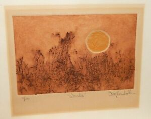 """STEPHEN LUSKIN """"WEEDS"""" LIMITED EDITION ETCHING"""