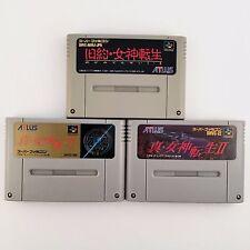 Shin Megami Tensei 1 2 & Kyuyaku Megami Tensei Super Famicom SNES SFC 531-4
