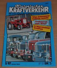 Historischer Kraftverkehr HIK 5/87 Schlepper Traktoren von Steyr VW Bus Büssing