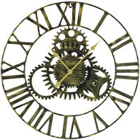 "Large Modern Decorative Wall Clock, 24"" Round - Roman Numeral - Home Room Décor"