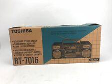 RARE New Boombox Toshiba RT-7016 Black with the original In Box