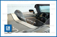 Pontiac Solstice Rear Wind Screen Logo Decal Sticker Set - text and shadow