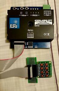 Vier analoge Adapter für ESU 51832 SwitchPilot 3 Servo, 8-fach Servodecoder