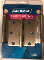 """Schlage 3 Hinge Project Pack 3.5"""" round 1/4"""""""