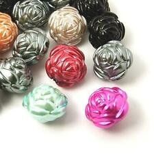 Acrylic Flower Beads 20 x 25mm Mixed BULK 3 Packs x 5 Pcs Art Hobby Jewellery
