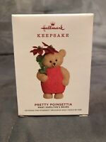 "Hallmark ""Pretty Poinsettia"" Mary Hamilton Bears Ornament 2019"