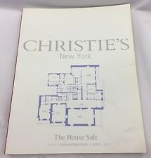Christies NY The House Sale Auction Catalog April 1st 2nd 2003 Free Shipping