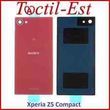 Cache Batterie Vitre Arrière Couvercle Coque Sony Xperia Z5 Compact Rouge Corail