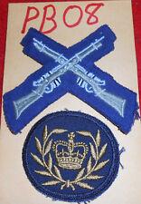 PB08 two (2) Australian Army cloth uniform insignias badges