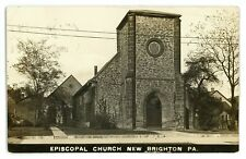 RPPC Episcopal Church in NEW BRIGHTON PA Beaver County Real Photo Postcard