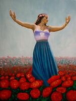 "Debbie Davidsohn ""Freedom Fields"" Oil on Canvas - Fine Art Collectors"