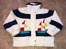 Braefair Mens Multi Color Full Zip Sailing Jacket Size M