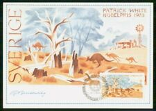 Mayfairstamps SWEDEN FDC 1985 MAXIMUM CARD PATRICK WHITE wwm54821