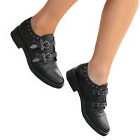 Chaussures pour femmes noires avec boucles C17-6072