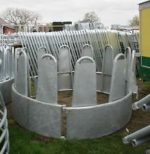 Rundraufe 12 Fressplätze mit Blech Sicherheits-Verkleidung Heuraufe Ringraufe