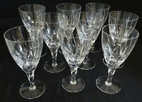 Stuart England Lyric Set of 9 Water Goblets Cut Glass