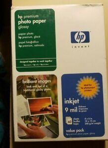 "HP Premium Photo Paper 4""x6"" Q1989A 60 Sts Ink Jet Glossy Printer  808736406888"