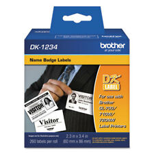 Brother DK1234 Self Adhesive Name Badge Labels for QL550, QL-550 printers