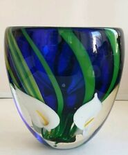 Peter Raos Arum Lilly Vase . N Z Art Glass
