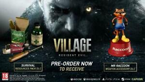 Resident Evil Village DLC XBox One Series X SURVIVAL PACK + MR RACCOON ACCESSORY