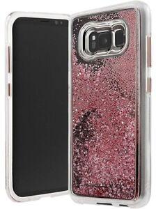 Case-Mate or Rose Chute Étui Paillettes Sparkle pour Samsung Galaxy S8 Plus